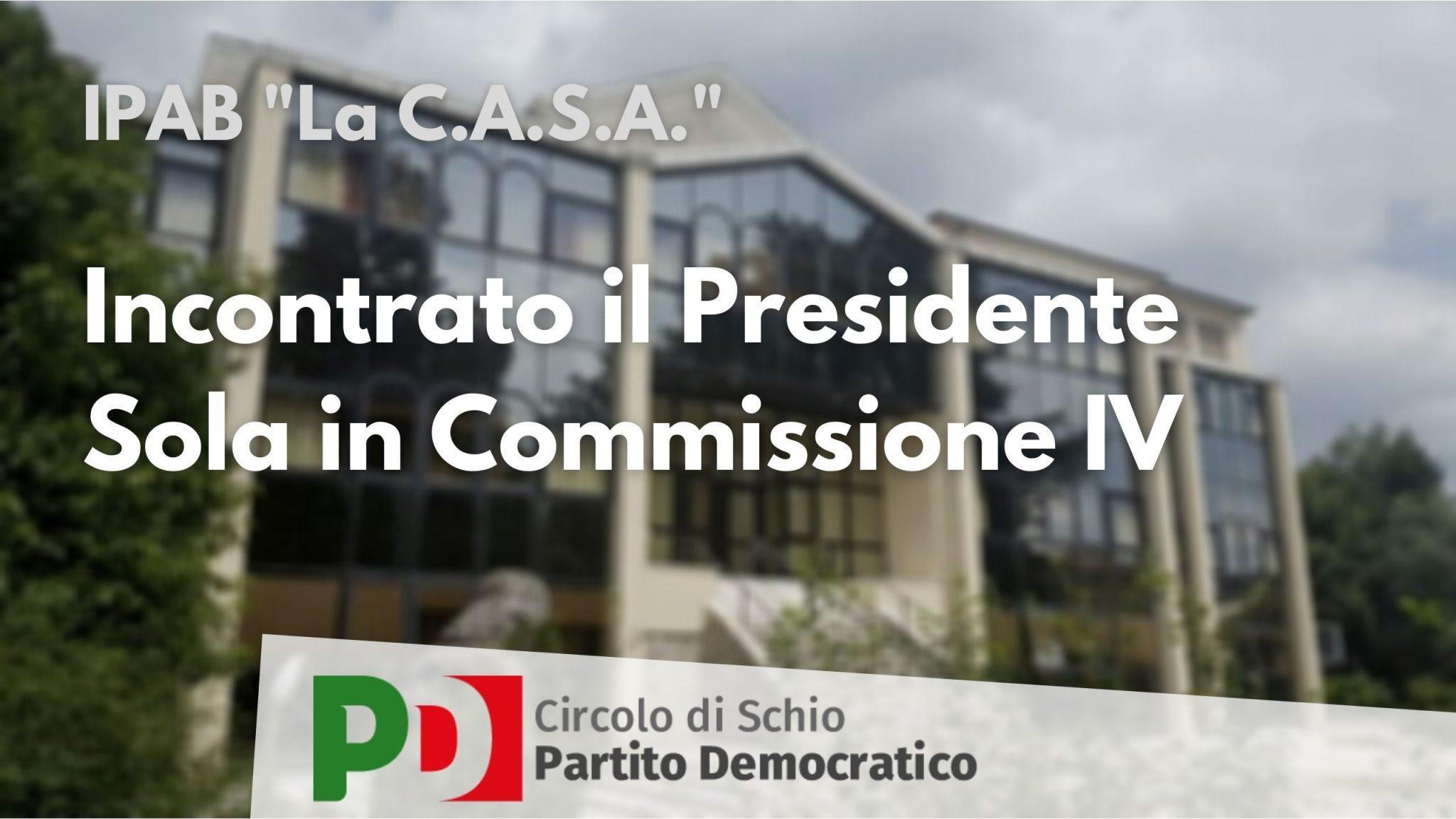 Logo comunicato stampa incontro Commissione IV
